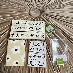 Kate Spade pouch with accessories & 2 notebooks